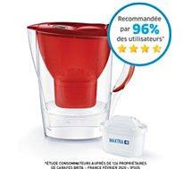 Carafe filtrante Brita  MARELLA rouge- 1 cartouche Maxtra+