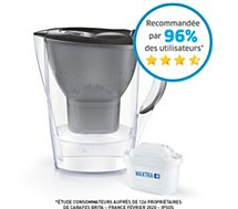Carafe filtrante Brita MARELLA graphite + 1 cartouche Maxtra+
