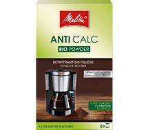 Détartrant Melitta  Bio poudre pour cafetiere filtre 6x20g
