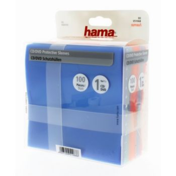 Hama Protection Pack CD/DVD 100 différ colori
