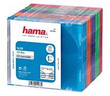 Boite à CD/DVD Hama  Slim CD pack de 25 Différents coloris