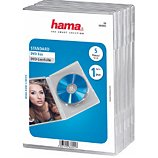 Boite à CD/DVD Hama  Standard DVD pack de 5Transparent