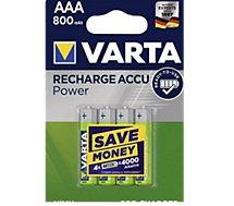 Pile rechargeable Varta  AAA 800 mAh x4