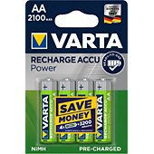 Pile rechargeable Varta AA 2100 mAh x4