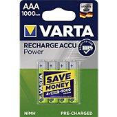 Chargeur Varta AAA 1000 mAh x4