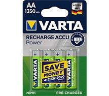 Pile rechargeable Varta  AA 1350 x4