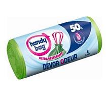 Sac poubelle Handy Bag  8 sacs de 50L dévor odeur