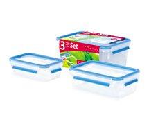 Boîte de conservation Emsa 3 boîtes alimentaires CLIP & CLOSE
