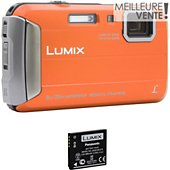 Appareil photo Compact Panasonic DMC-FT30 Orange + 2ème batterie