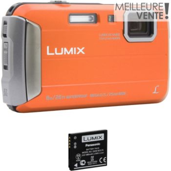 Panasonic DMC-FT30 Orange + 2ème batterie