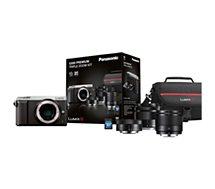 Appareil photo Hybride Panasonic GX80 silver+12-32+35-100+25mm+étui+SD16