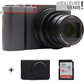Appareil photo Compact Panasonic DMC-TZ100 Silver + Etui + SD 16Go