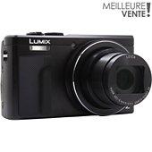 Appareil photo Compact Panasonic DMC-TZ80 Noir + Sacoche + SD 8Go