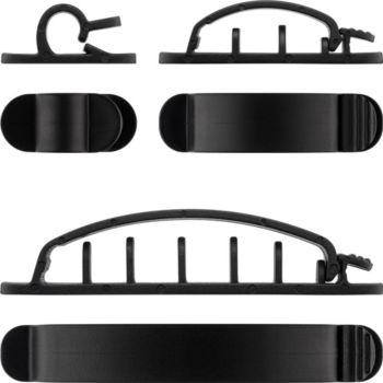 Goobay Cable Guide (Kit Clip) Noir x6