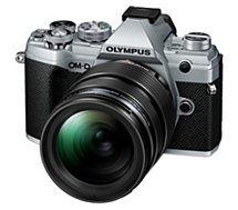 Appareil photo Hybride Olympus  E-M5 Mark III Silver + 12-40mm EZ Noir