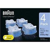 Cartouche nettoyante Braun CCR4:lotion nettoyante x4