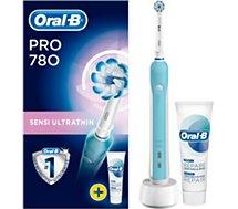 Brosse à dents électrique Oral-B  Pro 780 Sensi Ultra Thin + dentifrice