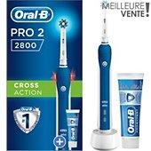 Brosse à dents électrique Oral-B Pro 2800 Cross Action Bleu+1 dentifrice