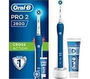 Oral-B Pro 2800 Cross Action Bleu+1 dentifrice