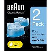 Cartouche nettoyante Braun CCR2:lotion nettoyante x2