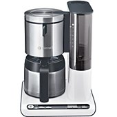 Cafetière programmable Bosch TKA8651 blanc / inox