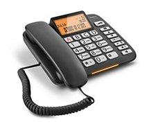 Téléphone filaire Gigaset  DL580 Noir