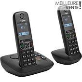 Téléphone sans fil Gigaset A605A Duo Noir