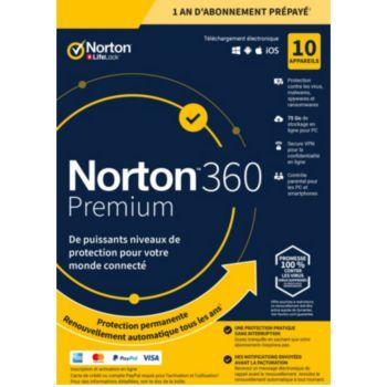 . Norton 360 Premium 10 postes