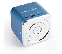 Enceinte sans fil Music Man SoundStation Bleu USB