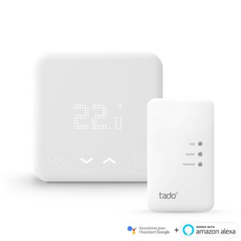 Thermostat connecté Tado pour chaudière et PAC -Kit démarrage V2