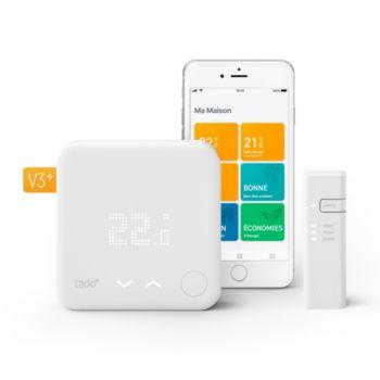 Thermostat connecté Tado pour chaudière et PAC -Kit démarrage V3+