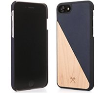 Coque Woodcessories  iPhone 7/8 EcoSplit bois/bleu