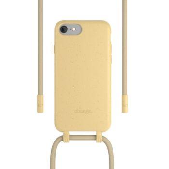 Woodcessories iPhone 6/7/8/SE Tour de cou Bio jaune