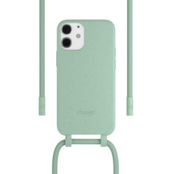 Woodcessories iPhone 12 mini Tour de cou Bio vert