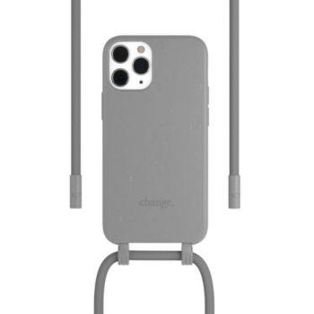 Woodcessories iPhone 12/12 Pro Tour de cou Bio gris