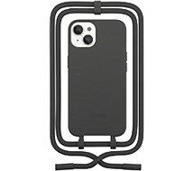 Etui collier Woodcessories  iPhone 13 Tour de cou noir