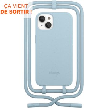 Woodcessories iPhone 13 Tour de cou bleu