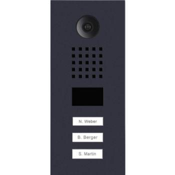 Doorbird Portier vidéo IP 3 boutons D2103V Noir