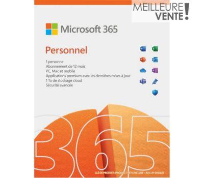 Logiciel de bureautique Microsoft Office 365 Personnel