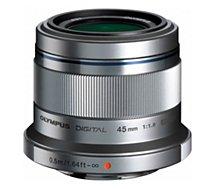 Objectif pour Hybride Olympus  45mm f/1.8 silver M.Zuiko