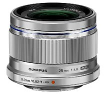 Objectif pour Hybride Olympus 25mm f/1.8 silver M.Zuiko