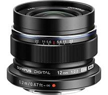 Objectif pour Hybride Olympus  12mm f/2 noir M.Zuiko