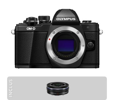 Pack olympus om d e m10 mark ii noir 14 42mm ez boulanger for Housse appareil photo hybride
