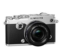 Appareil photo Hybride Olympus  PEN-F Silver + 14-42mm EZ
