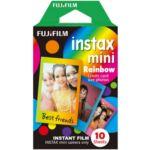 Papier photo instantané Fujifilm Film Instax Mini Rainbow (x10)