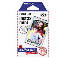 Papier photo instantané Fujifilm  Film Instax Mini Air Mail (x10)
