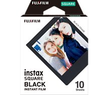 Papier photo instantané Fujifilm  Films Instax Square Black Frame x10
