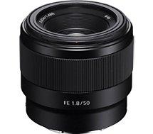 Objectif pour Hybride Plein Format Sony  SEL FE 50 mm f/1.8 Noir