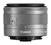 Objectif pour Hybride Canon  EF-M 15-45mm f3.5-6.3 IS STM Argent