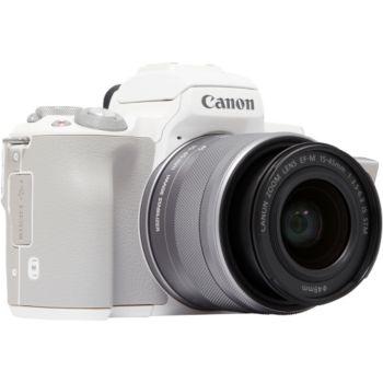 Canon EOS M50 Blanc + 15-45mm